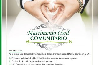 MATRIMONIO CIVIL COMUNITARIO
